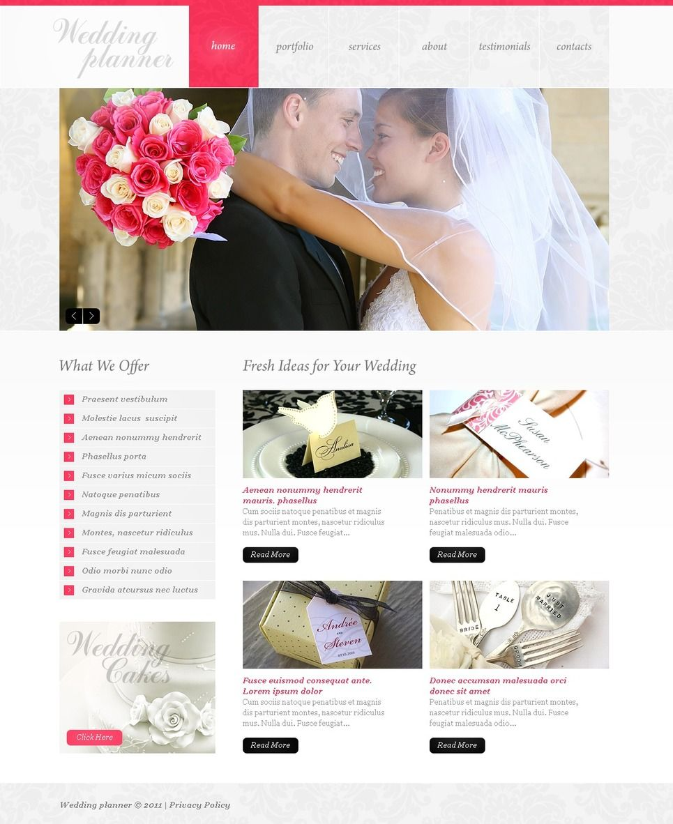 Wedding Planning Websites.Wedding Planner Psd Template 37054 Flyer Templates