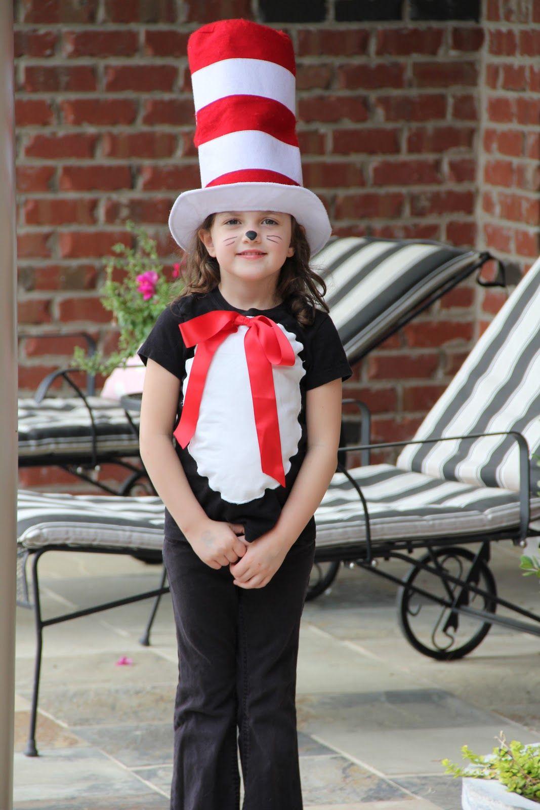 Chose 1 ou 2 Kids Fancy Dress CAT IN THE HAT DR SEUSS Book Day Boy Girl Costume