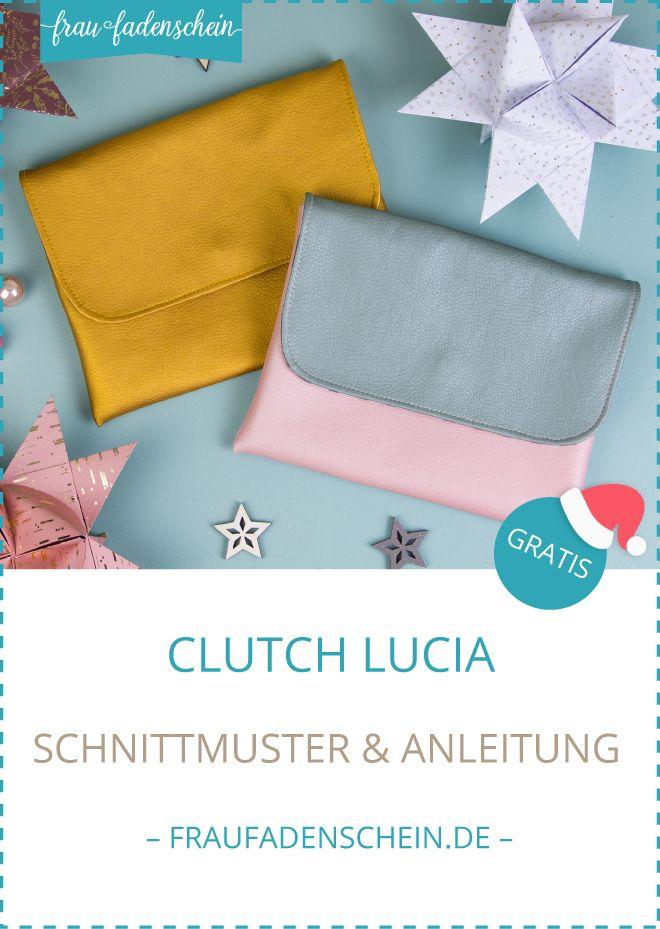 Photo of Frau Fadenscheins Adventszauber: Gratis Schnittmuster Clutch Lucia – Frau Fadenschein