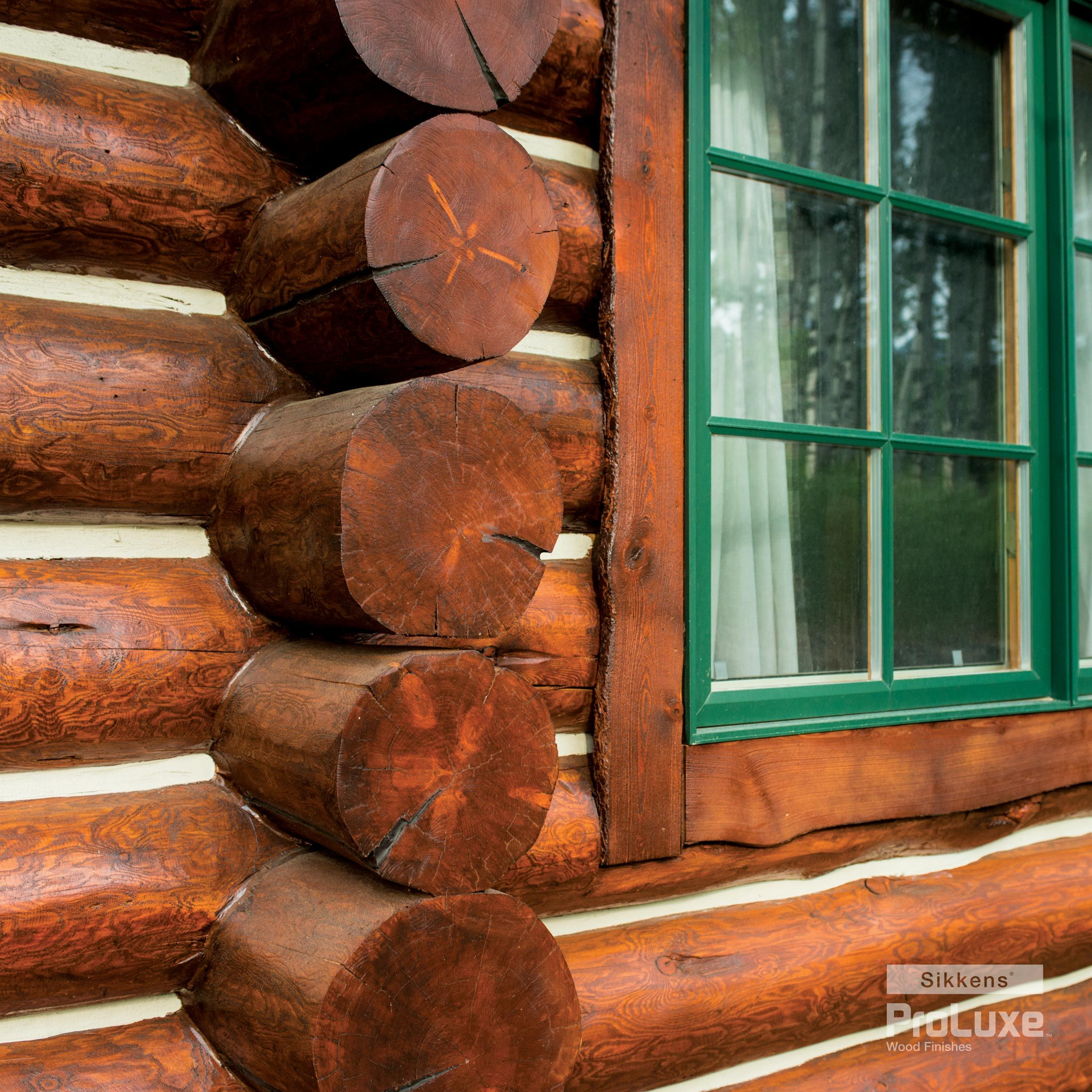 Exterior: Swedish Cope Log Profile With SIKKENS® PROLUXE™ Cetol® Log