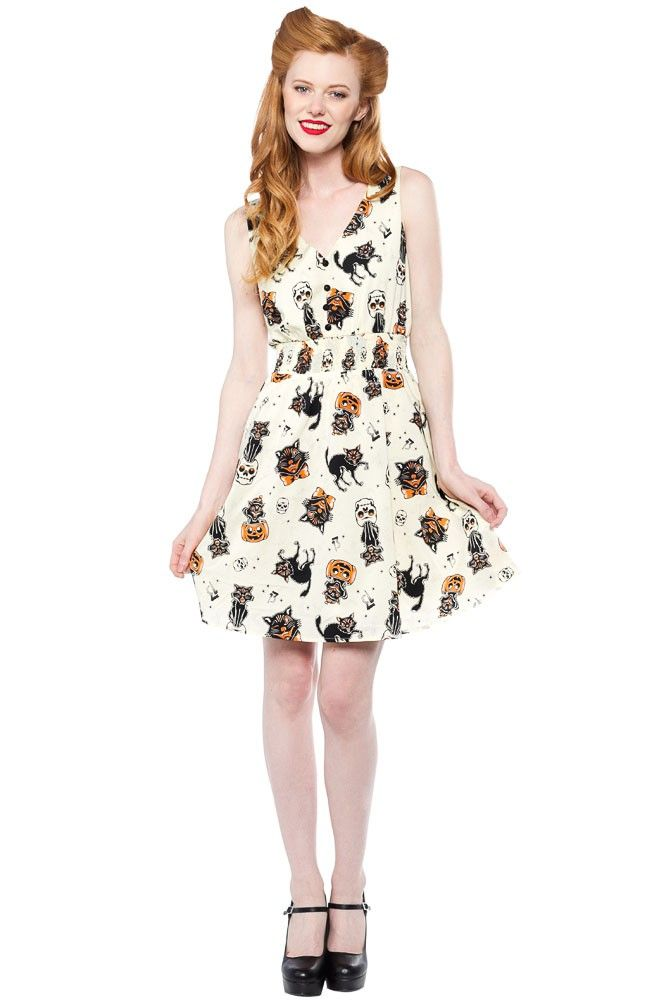 ea6097a9c97 SOURPUSS BLACK CATS GAUZY DRESS - Sourpuss Clothing