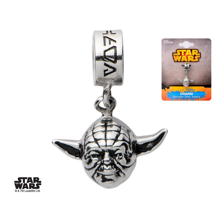 Licensed Star Wars R2D2 Stainless Steel Bead Dangle Charm