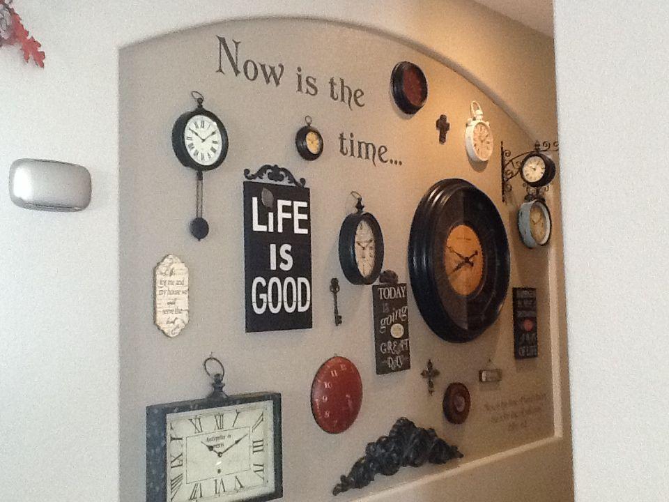 Clock Wall art niche Home Pinterest Art niche Clocks and
