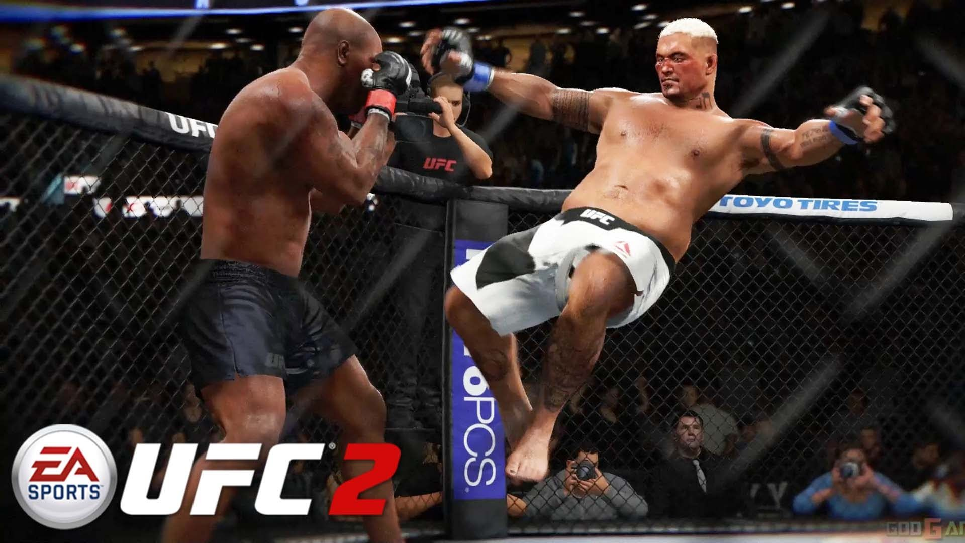 EA Sports UFC 2 - Mike Tyson vs Mark Hunt Gameplay PS4