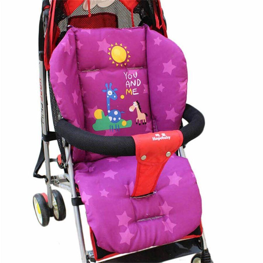 Warm Giraffe Baby Pushchair Mat Seat Cushion Cart Liner Cotton Stroller Pad