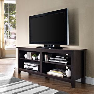 Wood Tv Stand For Tvs Up To 60 Multiple Finishes Great Reviews
