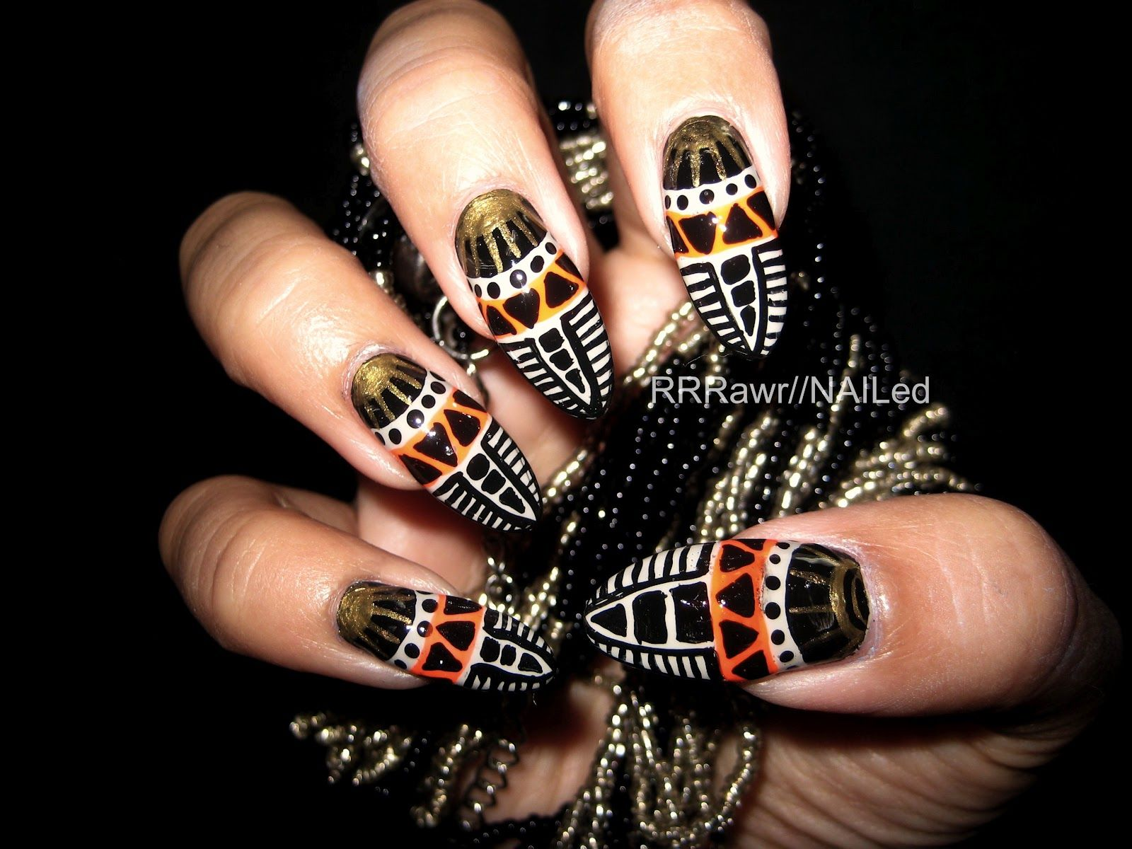 #fierce african touch #nails