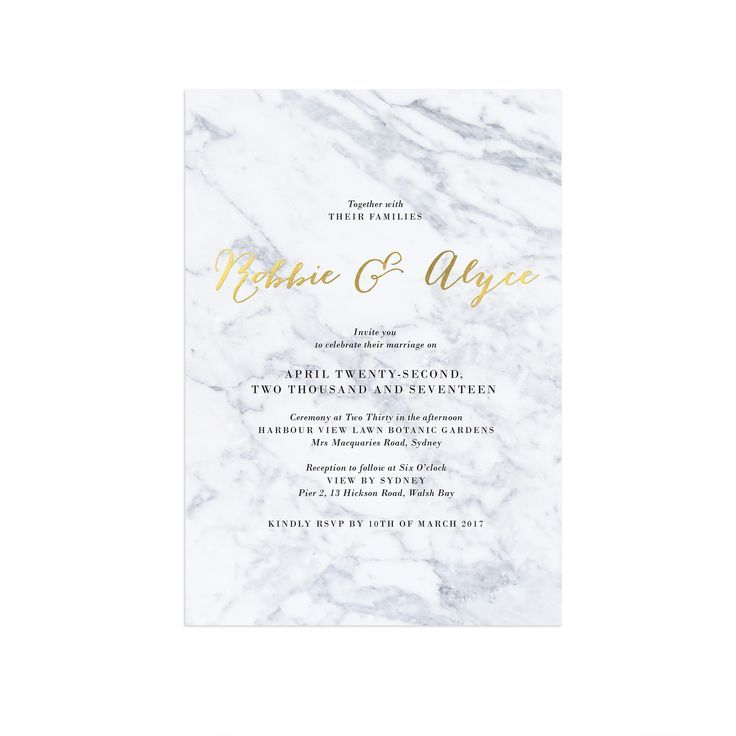gold foil marble wedding invitations sail and swan With foil wedding invitations perth