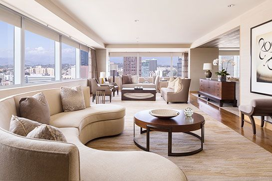The 15 Most Over The Top Hotel Suites In L A Luxury Hotel Room Luxury Hotel Bedroom Living Dining Room