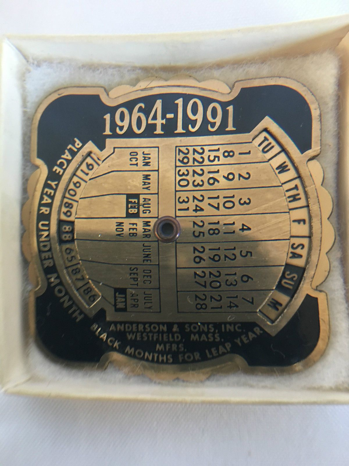 Details About Vintage Anderson Sons Inc Westfield Mass Brass