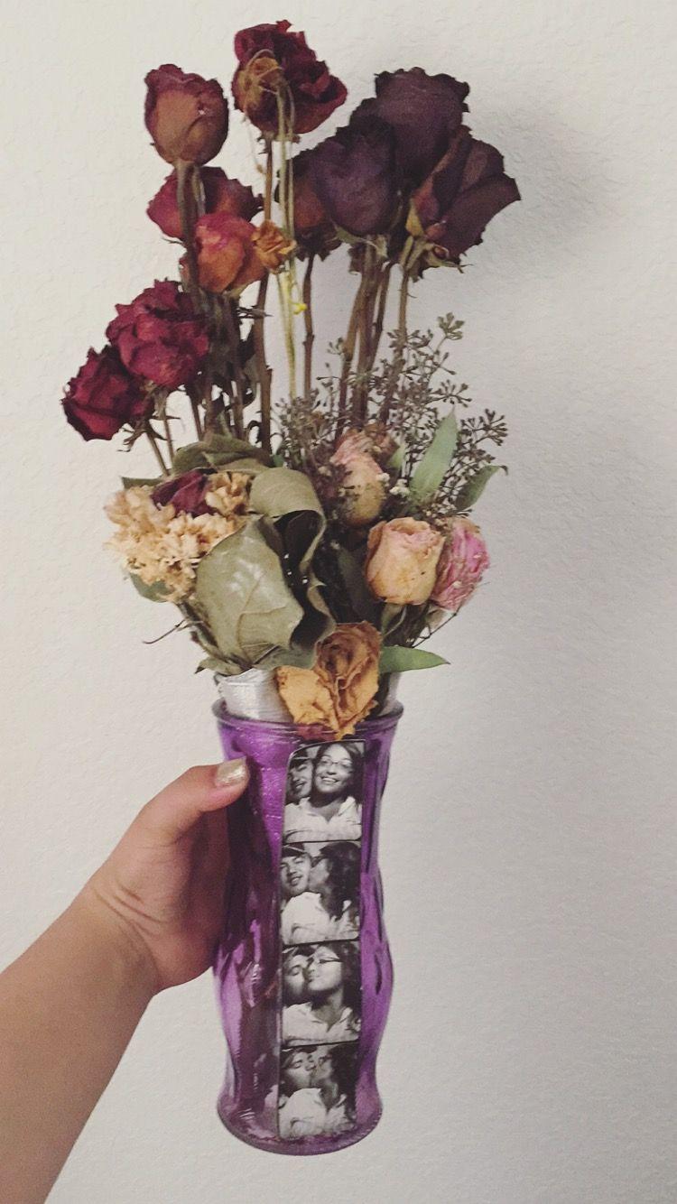 Vase Of Dead Roses Flowers My Handmade Diy Items