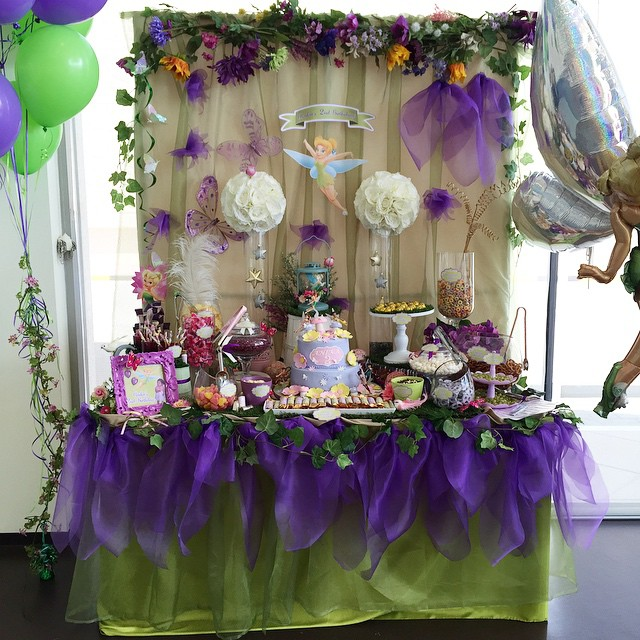 Birthday Party Decor Amazing Tinkerbell Or Fairy Themed Birthday Table Decoration W Fairy Theme Birthday Party Girls Birthday Party Themes Girls Birthday Party