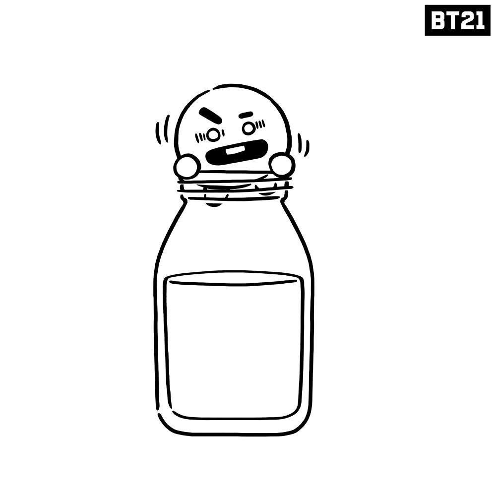 Pin By Nasreen Khatri On Bt21 Bts Drawings Coloring Pages Easy Drawings