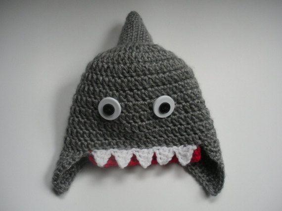Shark Week Fun Hat, Shark Hat, Newborn Shark Hat, Baby Shark Hat, Toddler Shark Hat, Child shark Hat, Adult Shark Hat, Newborn Shower Gift