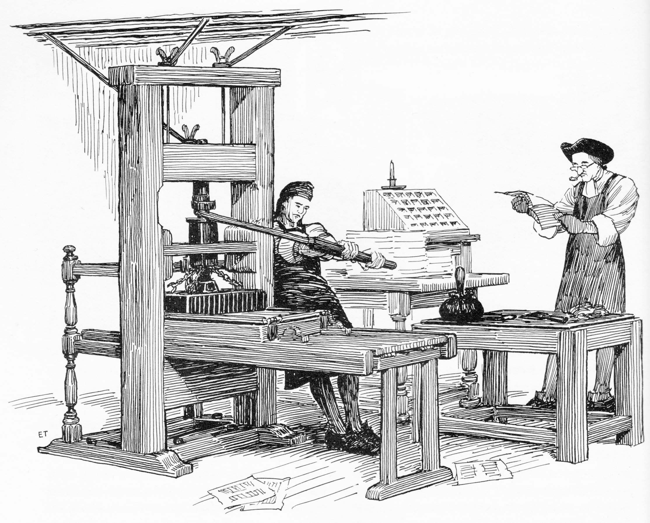 D Printing Exhibition Usa : Colonial printer printing press from