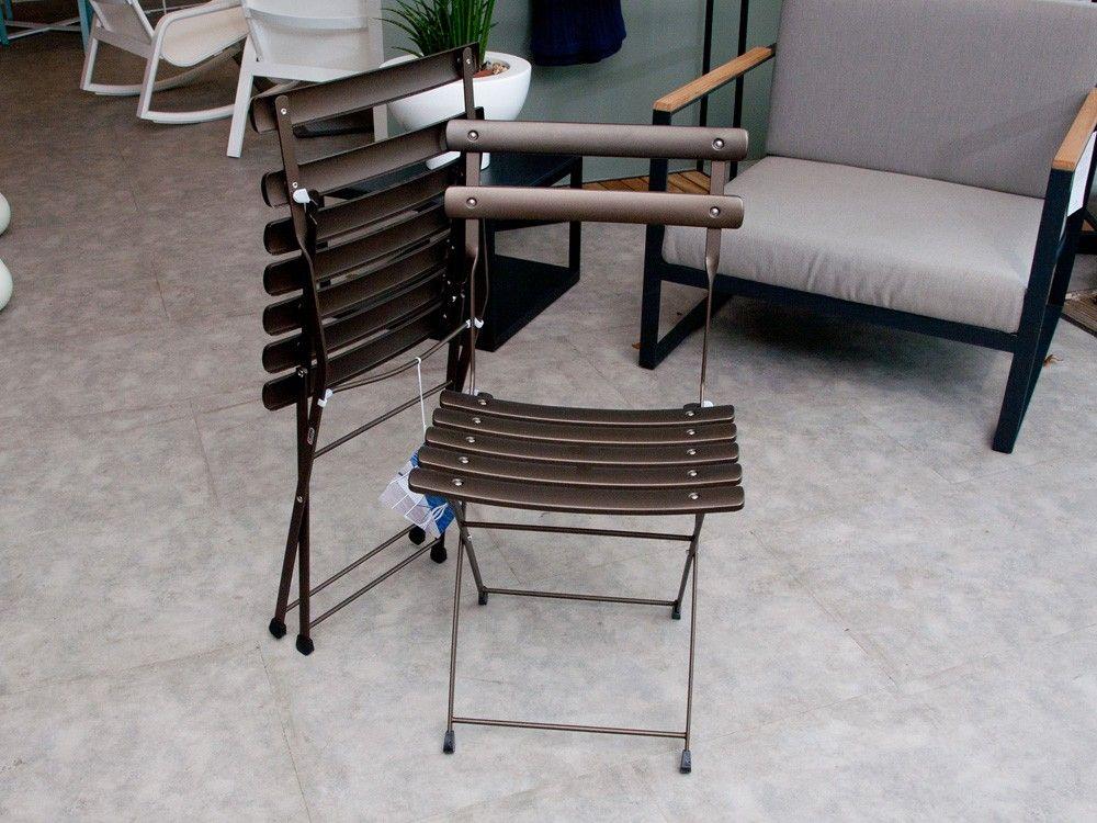 Emu Arc en Ciel Outdoor Folding Chairs - Set of 2 - Brown ...