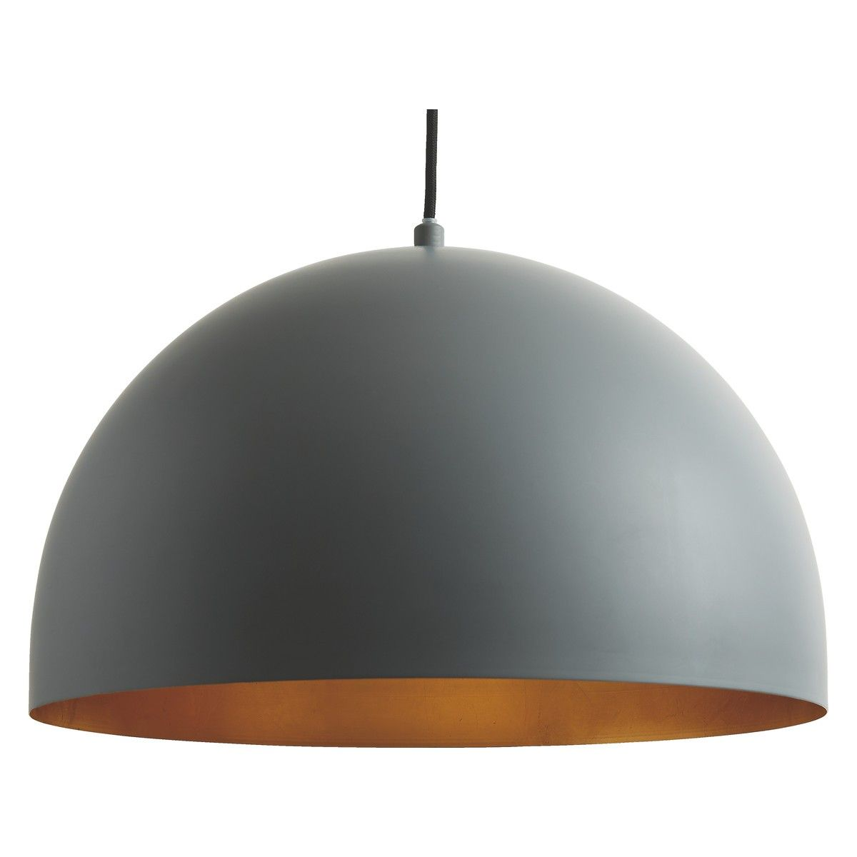 Large cut out dome metal lighting pendant shades cream - East East Grey And Gold Metal Ceiling Light