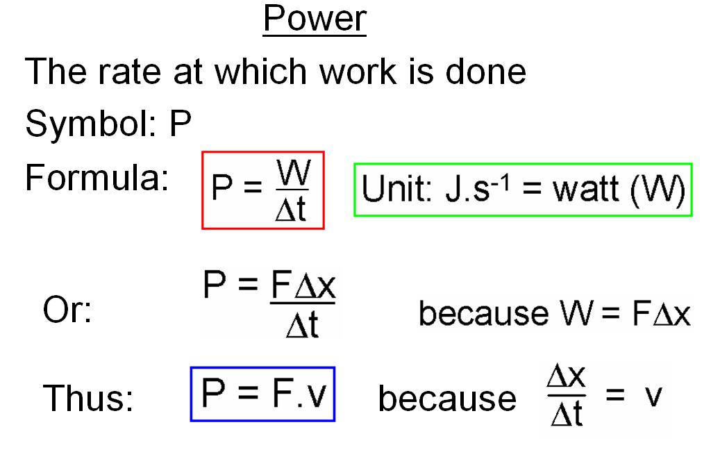Work Energy And Power 11 Work Energy And Power Power Physics Energy Work