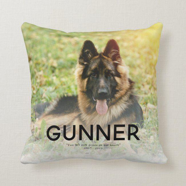 Pet Photo Memorial - Add Your Photo Throw Pillow #pet #memorial #pet #dog #tribute #ThrowPillow