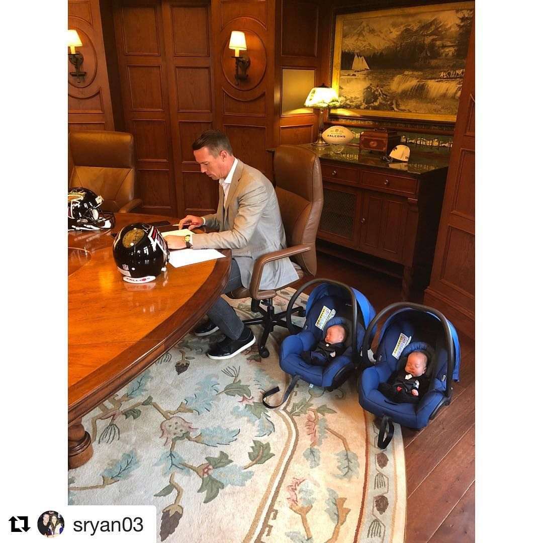 Matt Ryan Had To Bring In My Twin Consultants For This One Thank You To Arthur Blank And The Entire Falcons Organization Da Dad Life Matt Ryan Bring It On