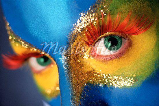colorful stare