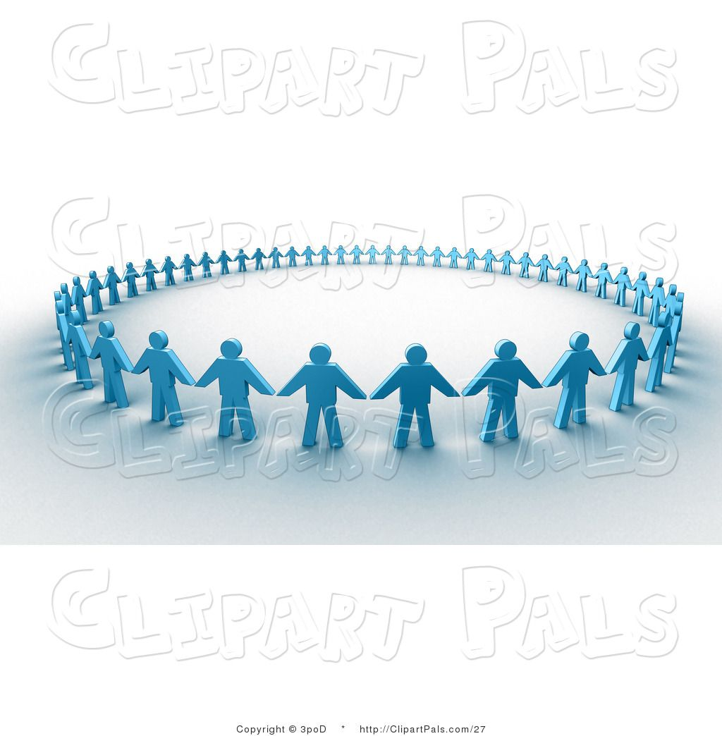 Men holding the word party concept 3d illustration stock photo - Pal Clipart Of 3d Paper People Holding Hands In A Circle By 3pod 27