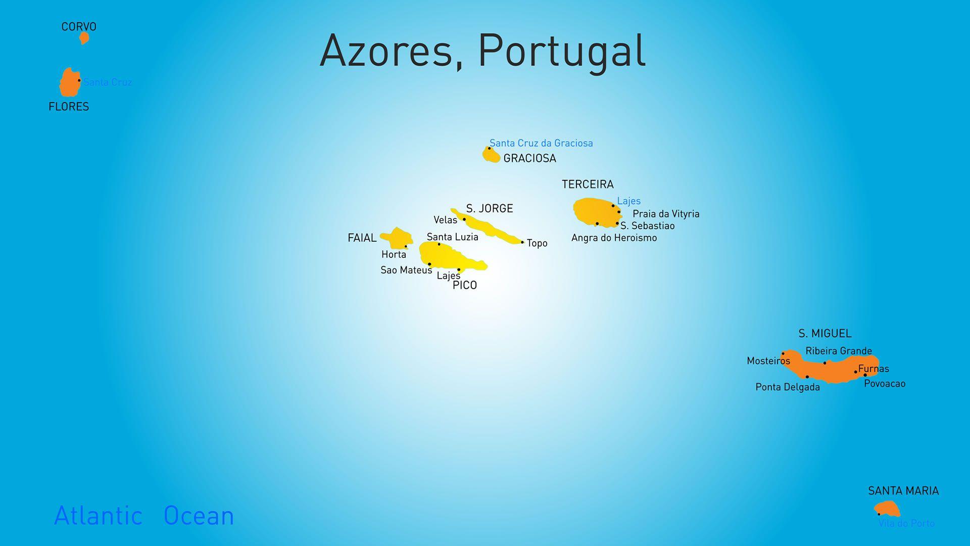Azores Portugal Mapas Del Mundo Pinterest Azores And Portugal - Portugal map with azores