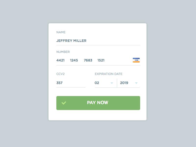 Credit Card Form  Ui Ux