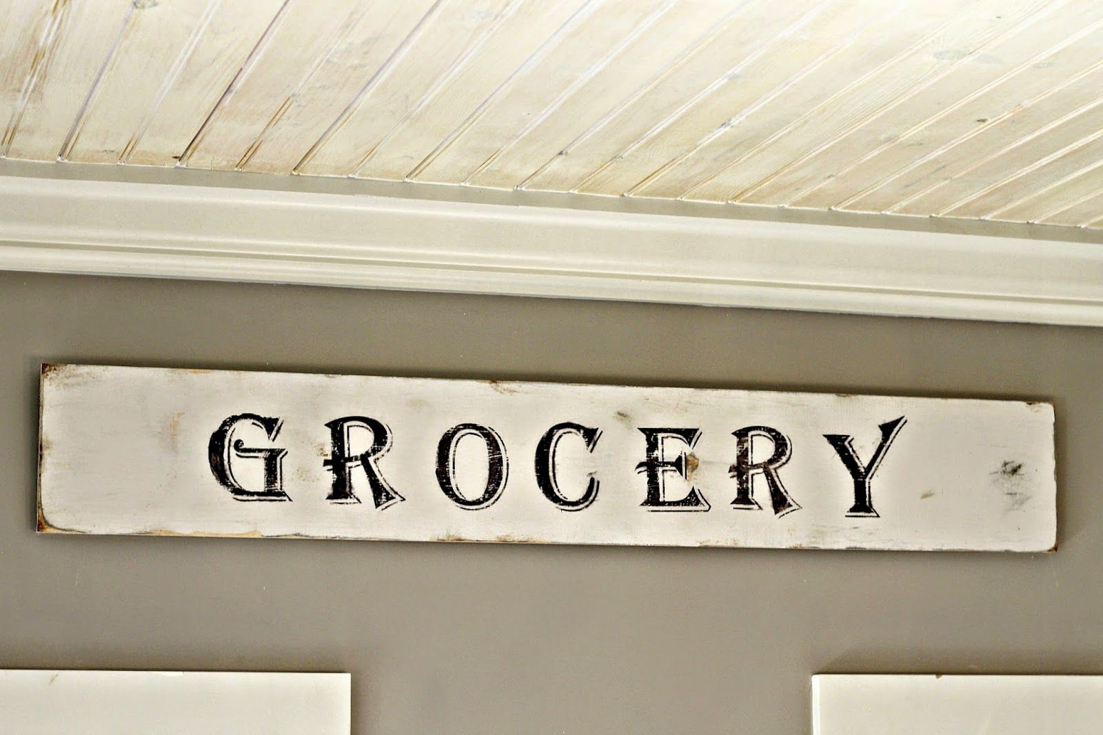 2 Vintage Sisters: My Grocery Sign In The Kitchen | Creative ...