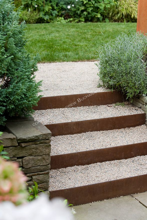 Best Metal Risers And Gravel Treads Make Up The Unique Steps 400 x 300