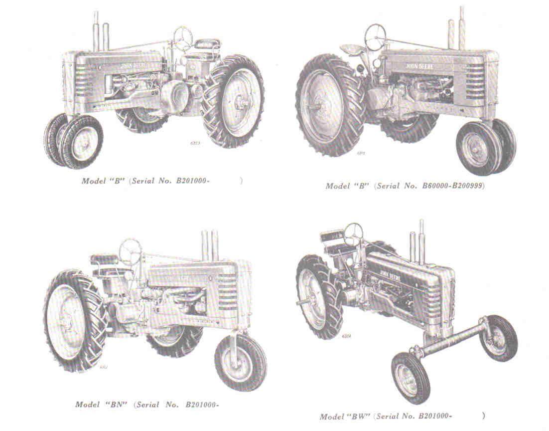 John Deere Model B Configurations