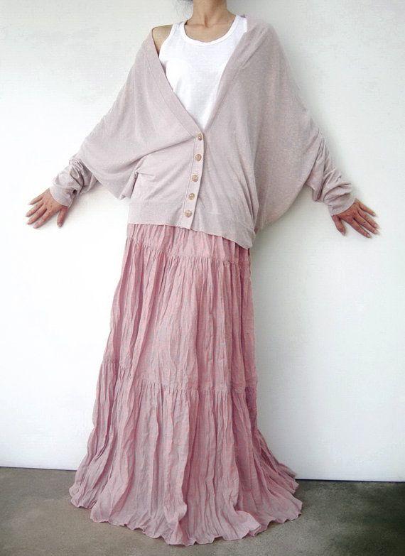 Nr. 5 rosa Baumwolle Gaze Gypsy-Boho Hippie von JoozieCotton | Long ...