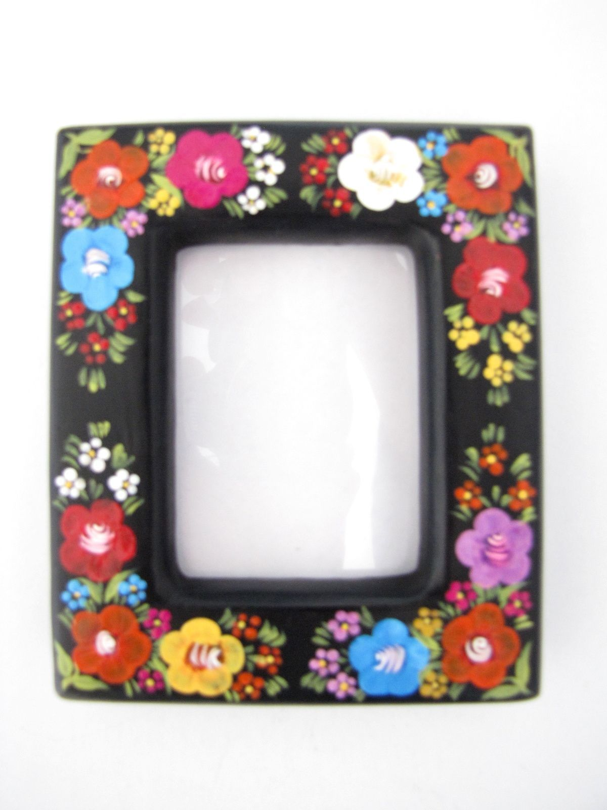 Chiapas picture frame hand painted 3x2 from Chiapas, Mexico | Color ...