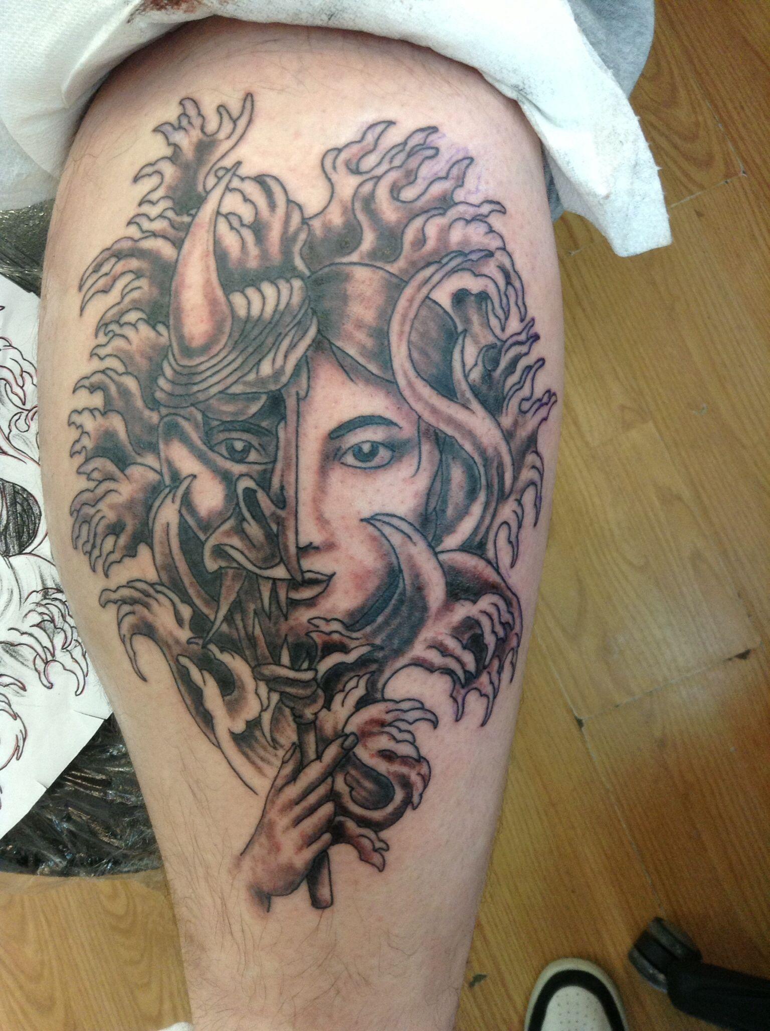Japanese hanya mask waves art pinterest geishas - Tattoos geishas japonesas ...