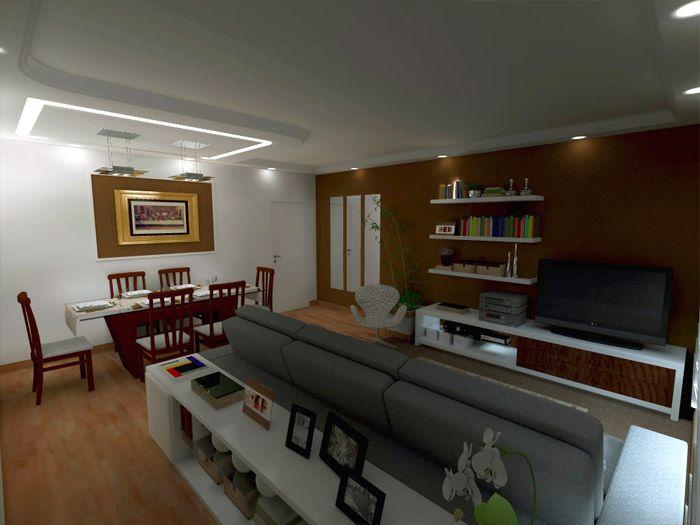como decorar sala quadrada  Pesquisa Google  Salas de estar  Quadros Como decorar uma sala e Decorao