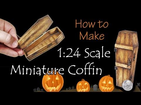 tutorial: 1/24th scale miniature coffin #dollhouseminiaturetutorials