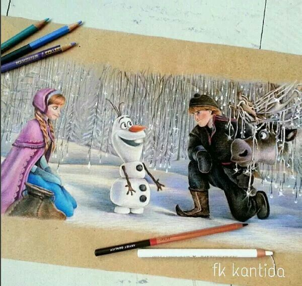 Awesome drawing of Frozen ❤