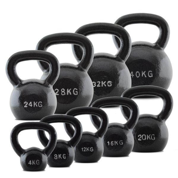 Powerhouse Fitness   BodyMax Kettlebell Cast Iron   Weight Training Home Gym Equipment