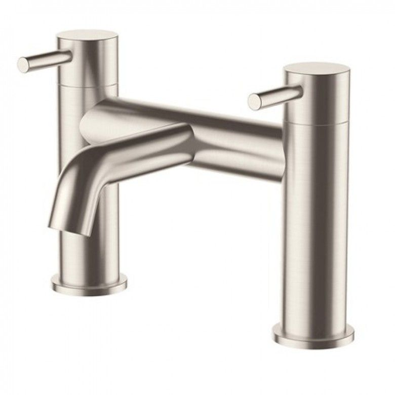 Inox Brushed Stainless Steel Deck Mounted Bath Filler Brushed Stainless Steel Stainless Steel Taps Steel Bath