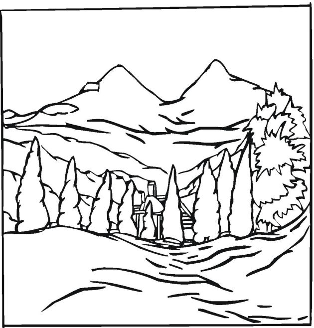 Landscape Coloring Pages Best Coloring Pages For Kids Colorful Landscape Coloring Pages Tree Coloring Page