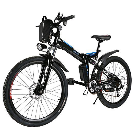 Folding Electric Mountain Bike With Lithium Ion Battery Dual