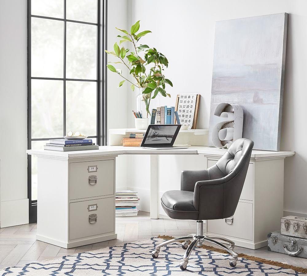 Bedford corner desk set 2 two drawer file corner