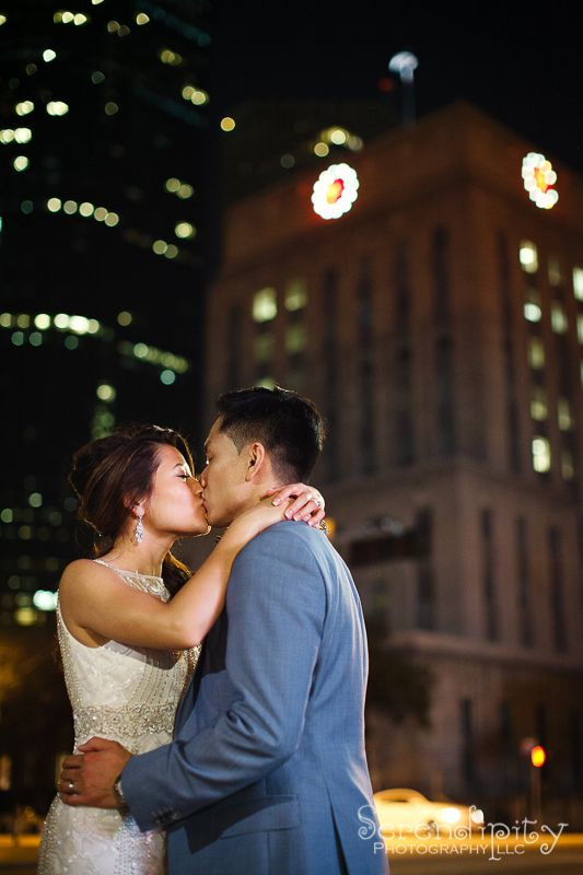 Houston downtown Hobby Center Bride and Groom Wedding ...