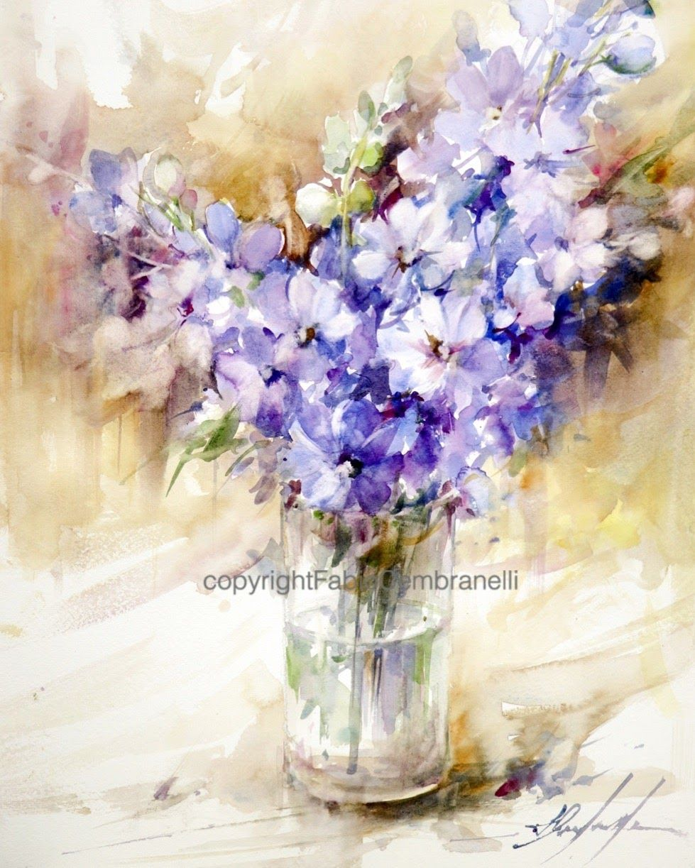 Fabio Cembranelli A Painter S Diary Watercolor Flowers Floral Art Watercolor