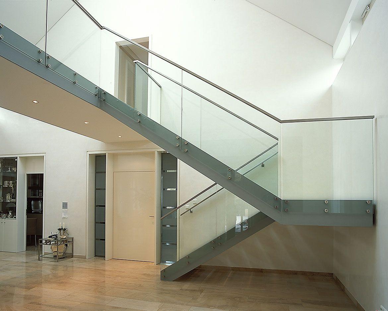 treppe und gel nder glas stahlkonstruktion haus innen pinterest treppe treppenhaus und. Black Bedroom Furniture Sets. Home Design Ideas