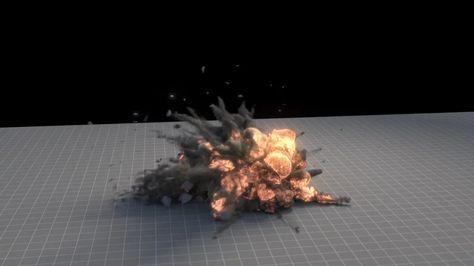 Houdini Explosion Asset v1 1 | realistic explosion | Visual