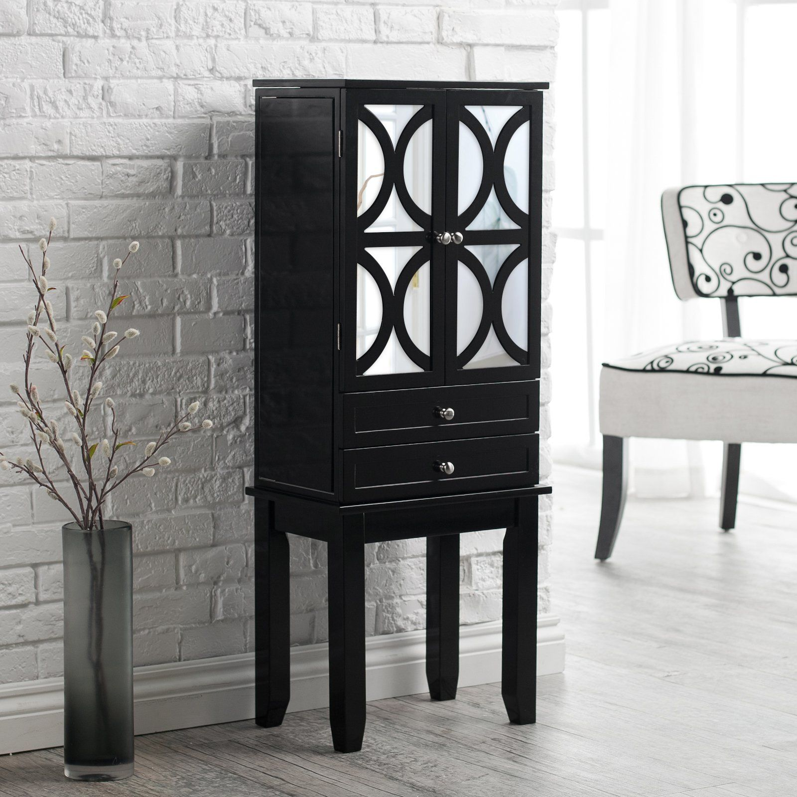Glossy Black Trellis Wall Accent: Have To Have It. Belham Living Mirrored Lattice Front