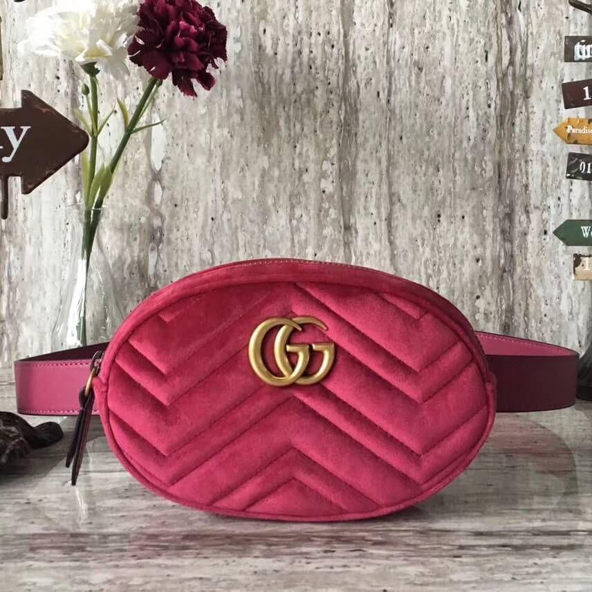 af055b251e4f00 Gucci Marmont Belt Bag 100% Authentic 80% Off | Authentic Gucci Handbags