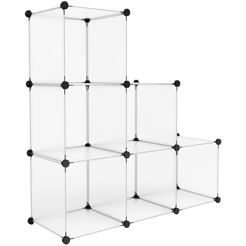 Armoire Penderie Modulable 6 Cubes Ouverte Meuble Etagere De
