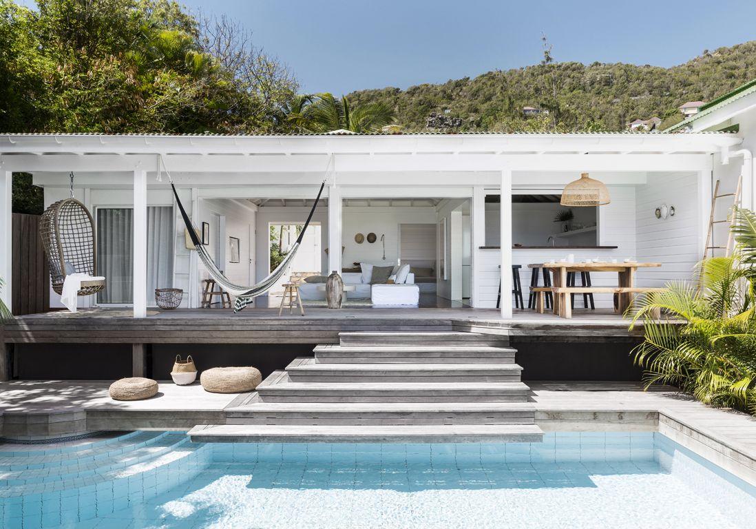 Une villa de rêve à saint barth elle décoration maison design villa californienne
